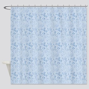 Blue Texture Shower Curtain