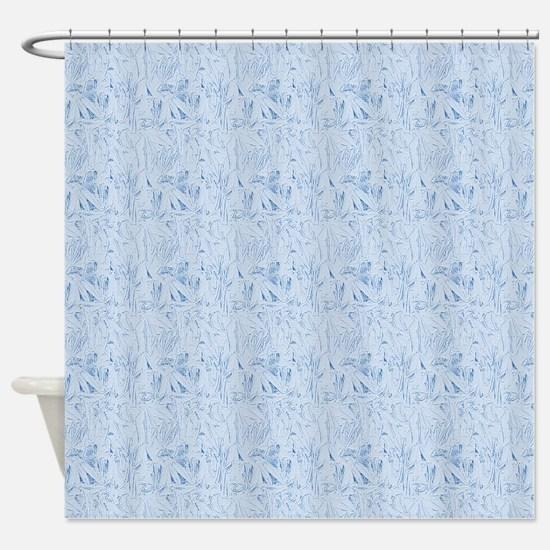Blue Texture Shower Curtain