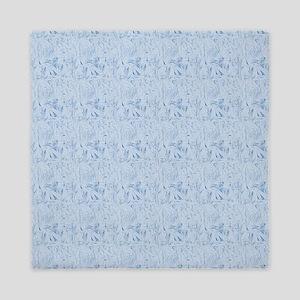 Blue Texture Queen Duvet