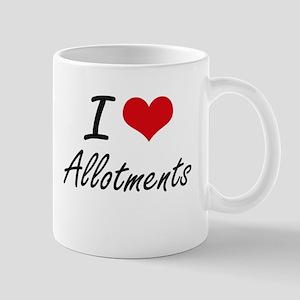 I Love Allotments Artistic Design Mugs