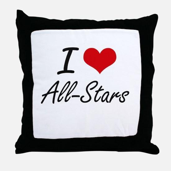 I Love All-Stars Artistic Design Throw Pillow
