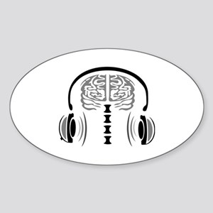 Gray Matter with Headset Sticker (Oval)
