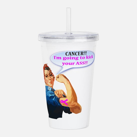Rosie Fighting Cancer Acrylic Double-Wall Tumbler