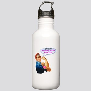 Rosie Fighting Cancer Stainless Water Bottle 1.0l