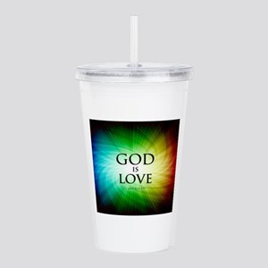 Love Is God Acrylic Double-wall Tumbler