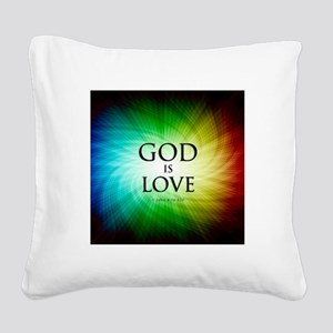 Love Is God Square Canvas Pillow