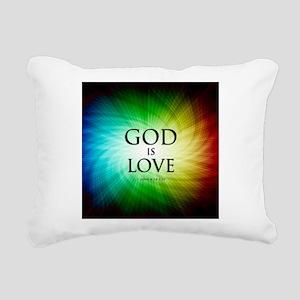 Love Is God Rectangular Canvas Pillow