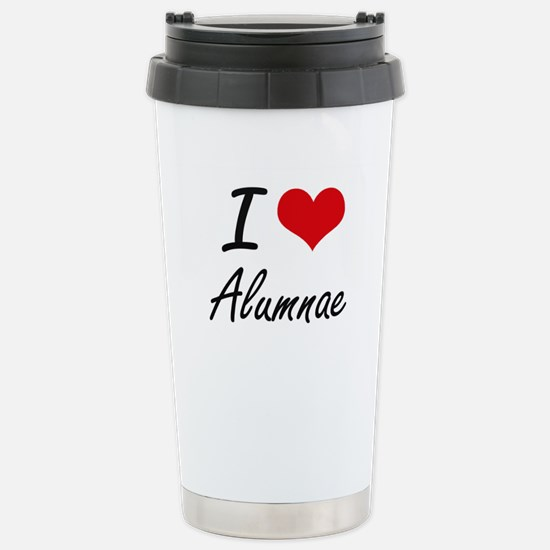 I Love Alumnae Artistic Stainless Steel Travel Mug