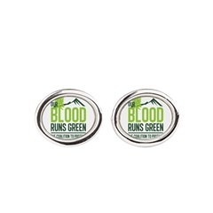 Our Blood Runs Green Oval Cufflinks
