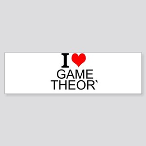I Love Game Theory Bumper Sticker