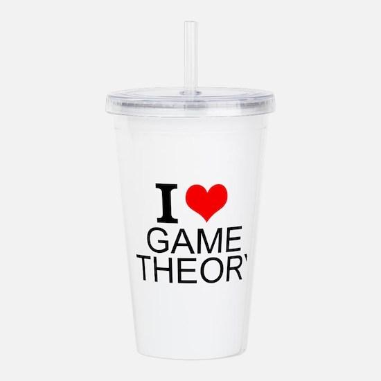 I Love Game Theory Acrylic Double-wall Tumbler