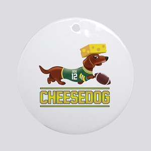 Cheesedog 2 (Dachshund) Round Ornament
