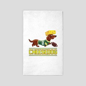 Cheesedog 2 (Dachshund) Area Rug