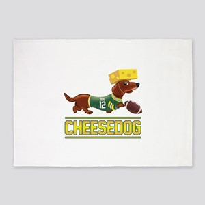 Cheesedog 2 (Dachshund) 5'x7'Area Rug