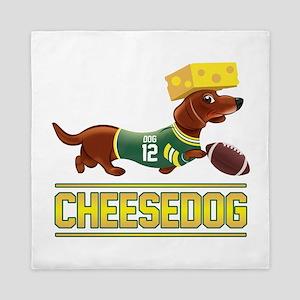 Cheesedog 2 (Dachshund) Queen Duvet