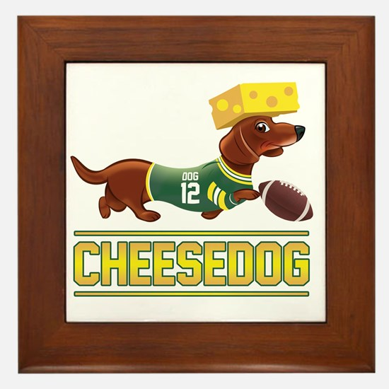 Cheesedog 2 (Dachshund) Framed Tile