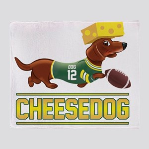 Cheesedog 2 (Dachshund) Throw Blanket
