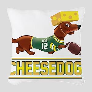 Cheesedog 2 (Dachshund) Woven Throw Pillow