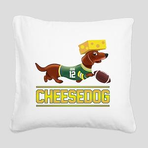 Cheesedog 2 (Dachshund) Square Canvas Pillow