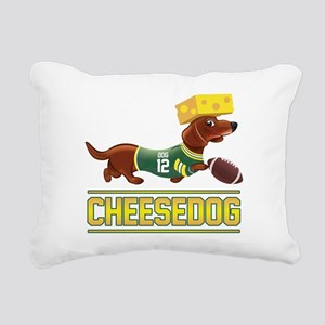 Cheesedog 2 (Dachshund) Rectangular Canvas Pillow