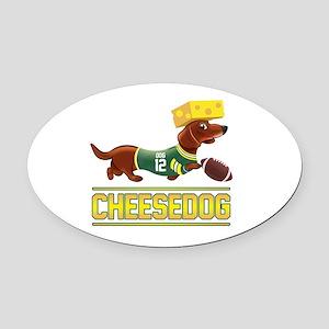 Cheesedog 2 (Dachshund) Oval Car Magnet