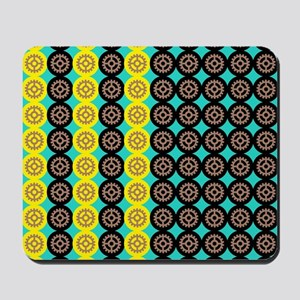 Alternating gearwheels pattern Mousepad
