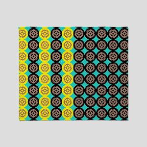 Alternating gearwheels pattern Throw Blanket