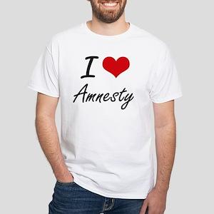I Love Amnesty Artistic Design T-Shirt