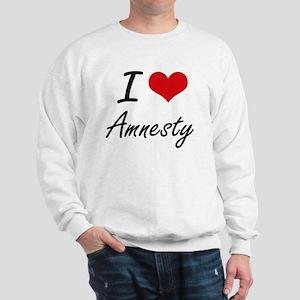 I Love Amnesty Artistic Design Sweatshirt