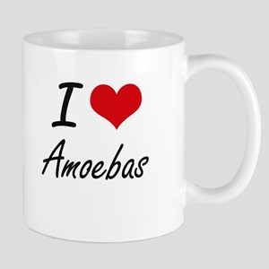 I Love Amoebas Artistic Design Mugs