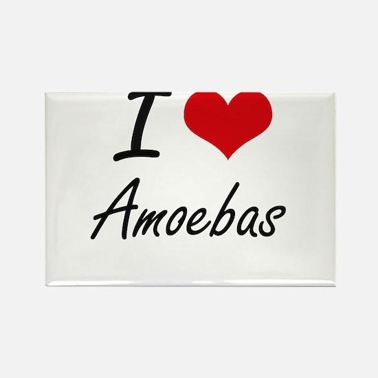 I Love Amoebas Artistic Design Magnets