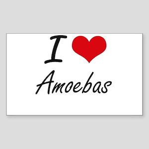 I Love Amoebas Artistic Design Sticker