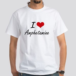 I Love Amphetamine Artistic Design T-Shirt
