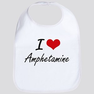 I Love Amphetamine Artistic Design Bib