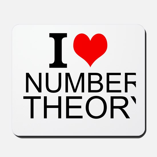 I Love Number Theory Mousepad