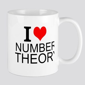 I Love Number Theory Mugs