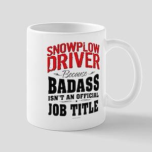 Snowplow Driver Badass Mugs