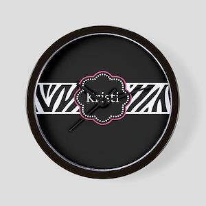 Black Zebra Personalized Wall Clock