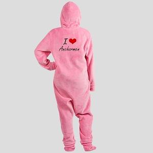 I Love Anchormen Artistic Design Footed Pajamas
