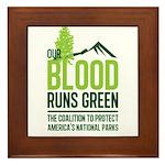 Our Blood Runs Green Framed Tile