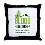 Our Blood Runs Green Throw Pillow
