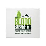 Our Blood Runs Green Throw Blanket