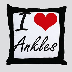 I Love Ankles Artistic Design Throw Pillow