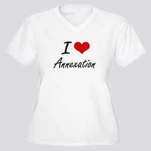 I Love Annexation Artistic Desig Plus Size T-Shirt