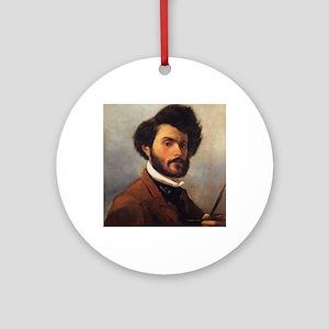 Giovanni Fattori - Self-portrait Round Ornament