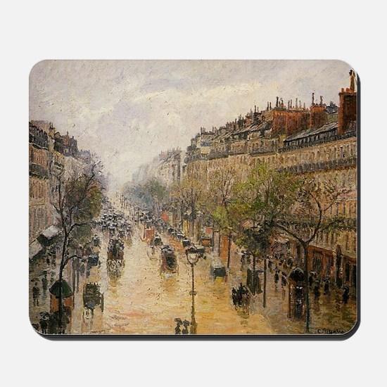 Camille Pissarro - Boulevard Montmartre  Mousepad