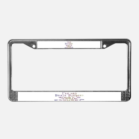 Funny Disabilities License Plate Frame