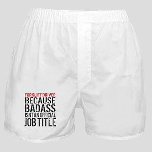 Badass Forklift Driver Boxer Shorts
