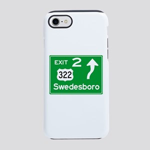 NJTP Logo-free Exit 2 Swedes iPhone 8/7 Tough Case