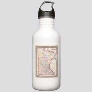 Vintage Map of Minneso Stainless Water Bottle 1.0L